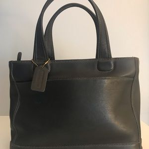 Coach leather top handle hand bag